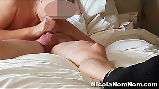 TOYBOY NEIGHBOUR STICKS HIS COCK IN MY 49 YO GRANNY MOUTH