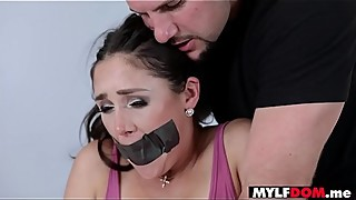 Busty housewife tied and dominated by a perv stranger