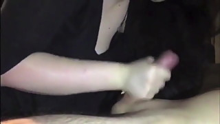 Cheating British girl wanks and cuckolds her boyfriend