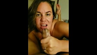 Wife sucks BBC with husband in the other room