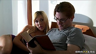 Unsatisfied blonde wife Amy Brooke fucks her ex-husband on cam
