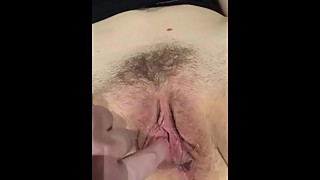 Slut wife Claire shows her wet pussy