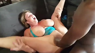 Husband films his busty wife gets rough used by BBC