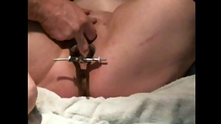 Homemade wife multiple squirting orgasms with speculum