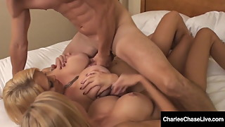 Dick Loving Duo Charlee Chase & Brooke Tyler Mouth Fuck Cock