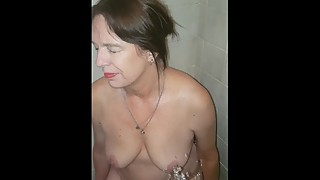 Piss on slut wifes face
