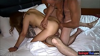 Asian amateur wife gets double penetrated by foreigners