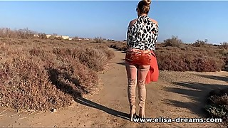 Erotic and naughty video done close the beach