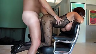 Slutty and busty wife cheating on husband with his best friend