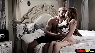Chubby MILF housewife cuckolded in front of tied hubby