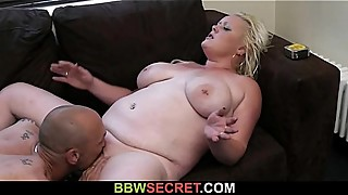 Cheating hubby got busted while fucking BBW