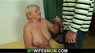 He doggy-fucks wifes blonde mom and gets busted