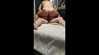Hot Ukrainian wife rides Russian stud, hubby joins 2