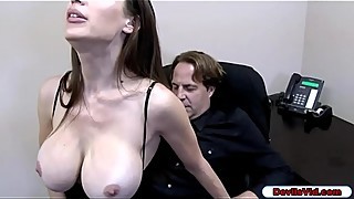 Slut wife sucks husbands employee