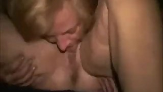 My slut wife licking pussy of her friend. Amateur lesbian