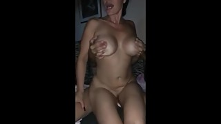 Husband shares his busty and naughty wife on vacation after night club