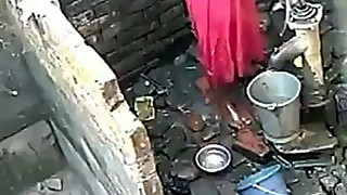 Indian girl bathing video taken hidden
