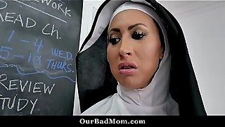 Horny Nun Fucks Her Students in the Class