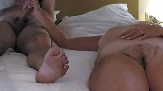 71 yrold Milf wanks off her neighbor with husband permission