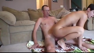 My cheating busty wife having fun with my stepbrother with very big dick