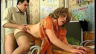 Russian mature teacher wife cheats with her student in classroom (3)