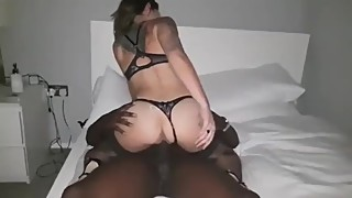Tattooed hotwife getting worked by BBC while husband films