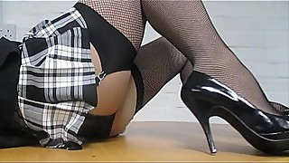 Sexy wife in fishnets