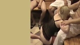 Cuckilding blond wife gang bang