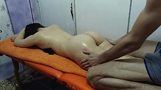 Cuckold wife massage and fuck