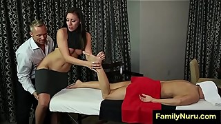 Husband fuck hot woman while wife is having massage