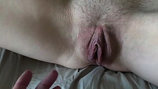 Slutwife Claire shows her soaking wet pussy