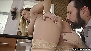 Man fucks wife and huge tits step sister