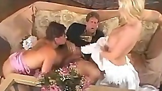 Bride groom and maid of honor join for some sex