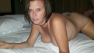 Husband films his busty cheating wife gets creampie from his best friend