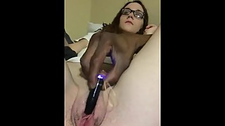 Playing with the wife pussy