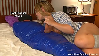 Cheating Wife taunts her hubby during femdom handjob