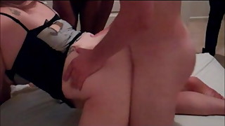 Hotwife's Birthday Gangbang While Hubby Films