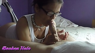 Cheating wife in stockings rides cock & filled with cum - Angel Stone