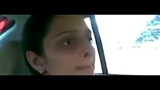 Indian wife cheats and fucks in car