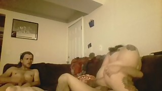 Big tittied wife gets fucked hard and husband sucks big cock