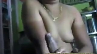 Desi cheating wife gives handjob to boyfriend