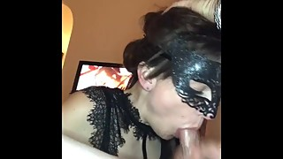 Wife fantasizes about having a threesome while sucking husbanda€™s cock!