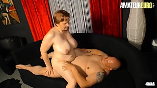 AmateurEuro - Slutty German Chubby Wife Fucked Hard On The Couch