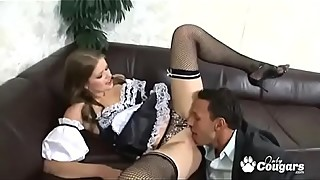 Couple Fuck The Maid Together
