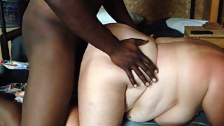 White wife being bred.