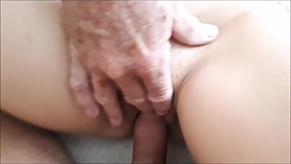 fucking wife while old stranger uses her mouth