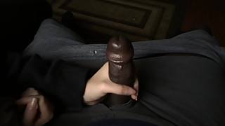 Cheating wife handjob her black friend
