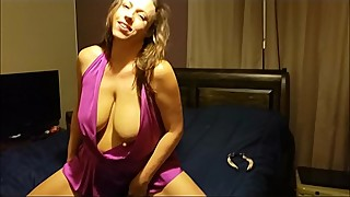 Purple II - Busty wife with great nipples squirts while fucking big dick