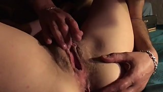 Fingering mature married wife in front of his husband