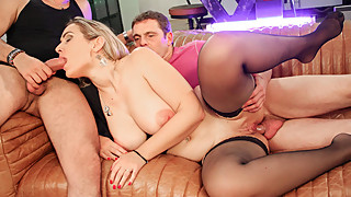 LETSDOEIT - Turning My Wife Into a Slut (French 3Some Porn)